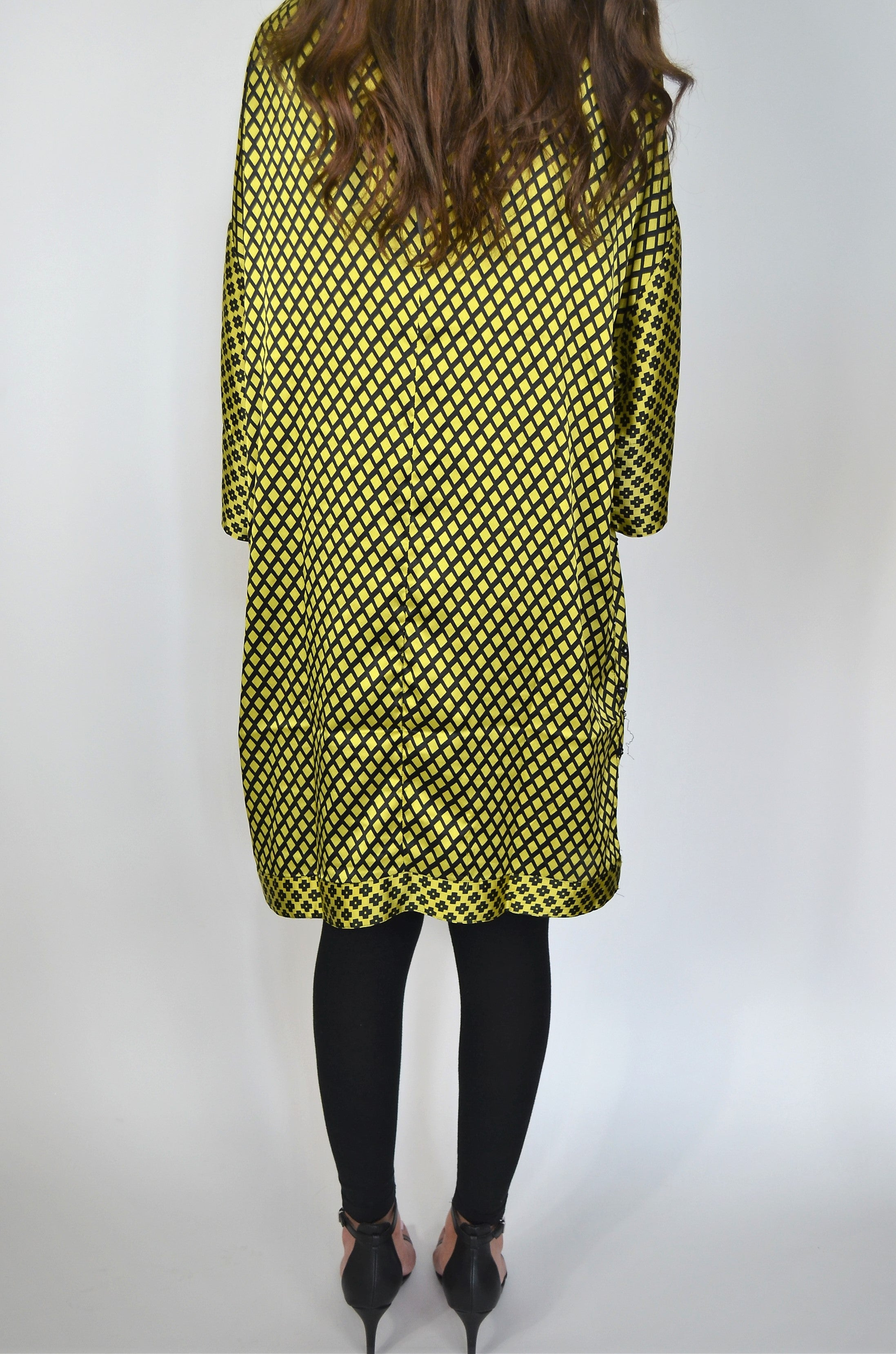 Khaadi Yellow and Black Kurti