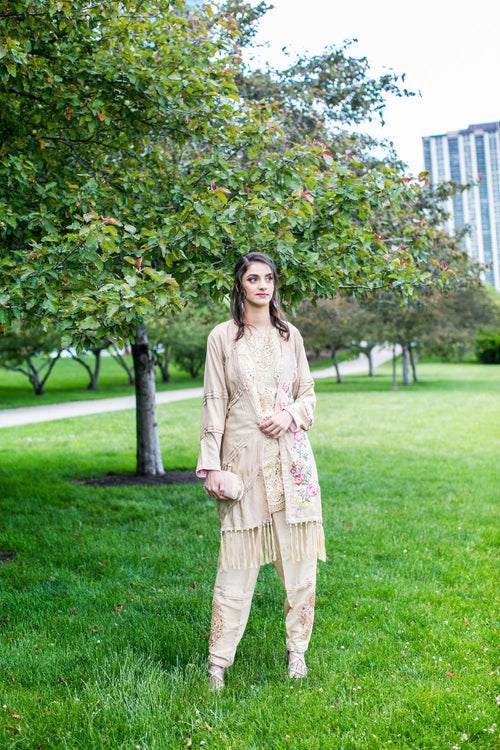 Formal coat with kurta shalwar
