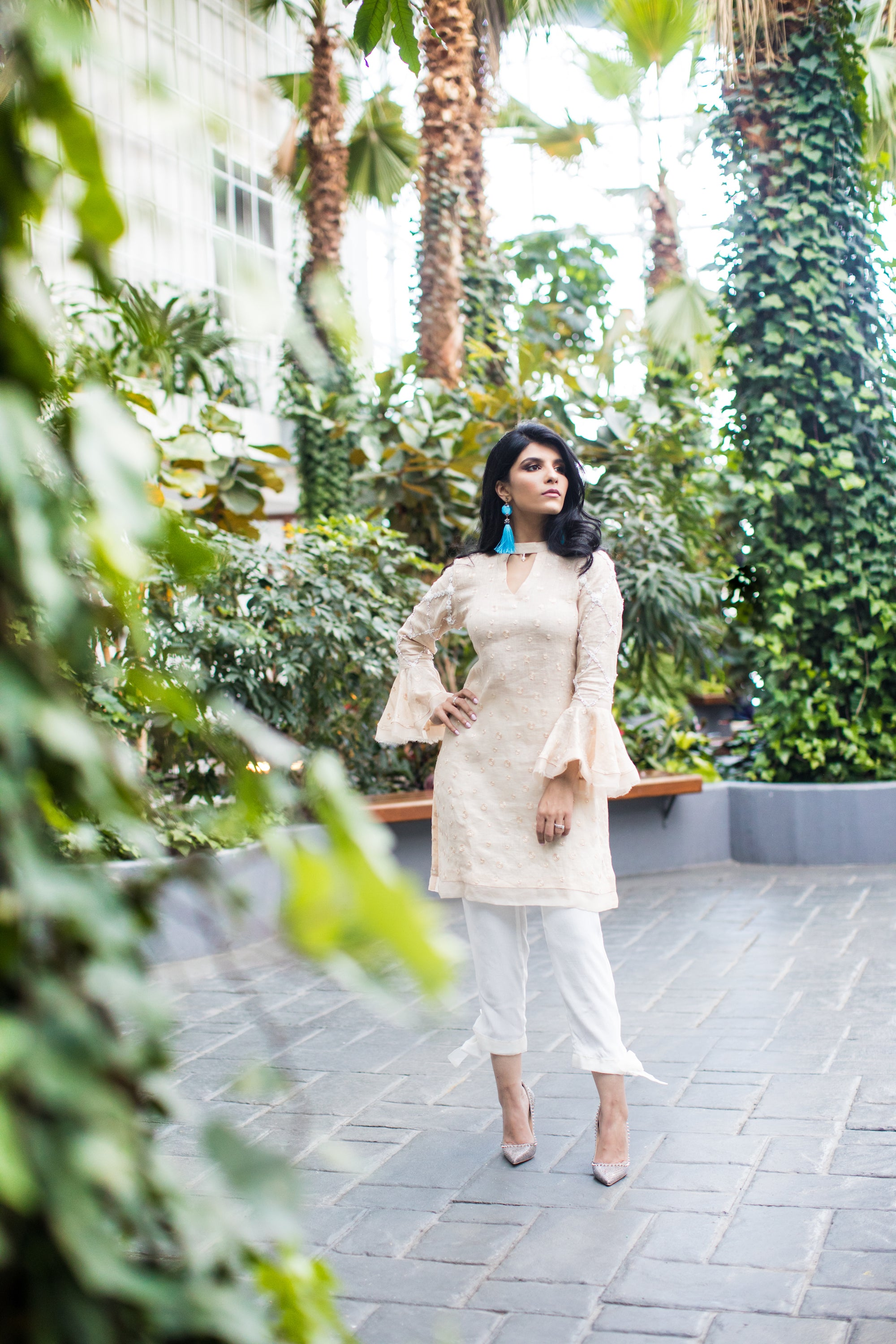 Fatima Sajid Ruffle Sleeved Shirt