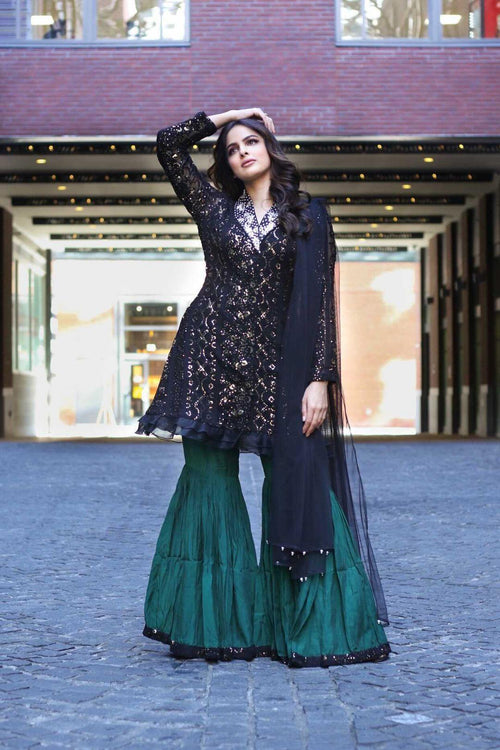 Sehrish Green Gharara