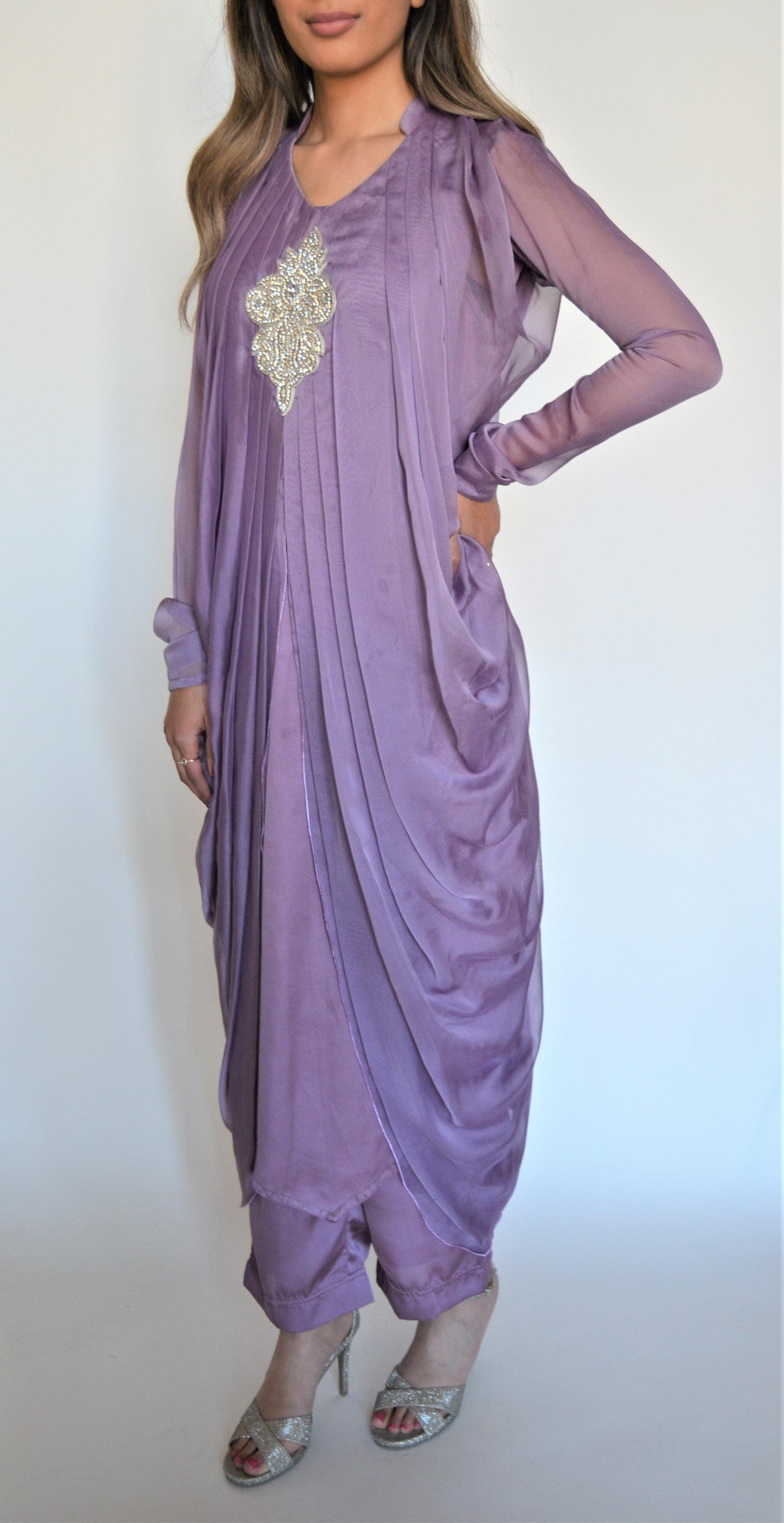 Lavender Pleated Suit