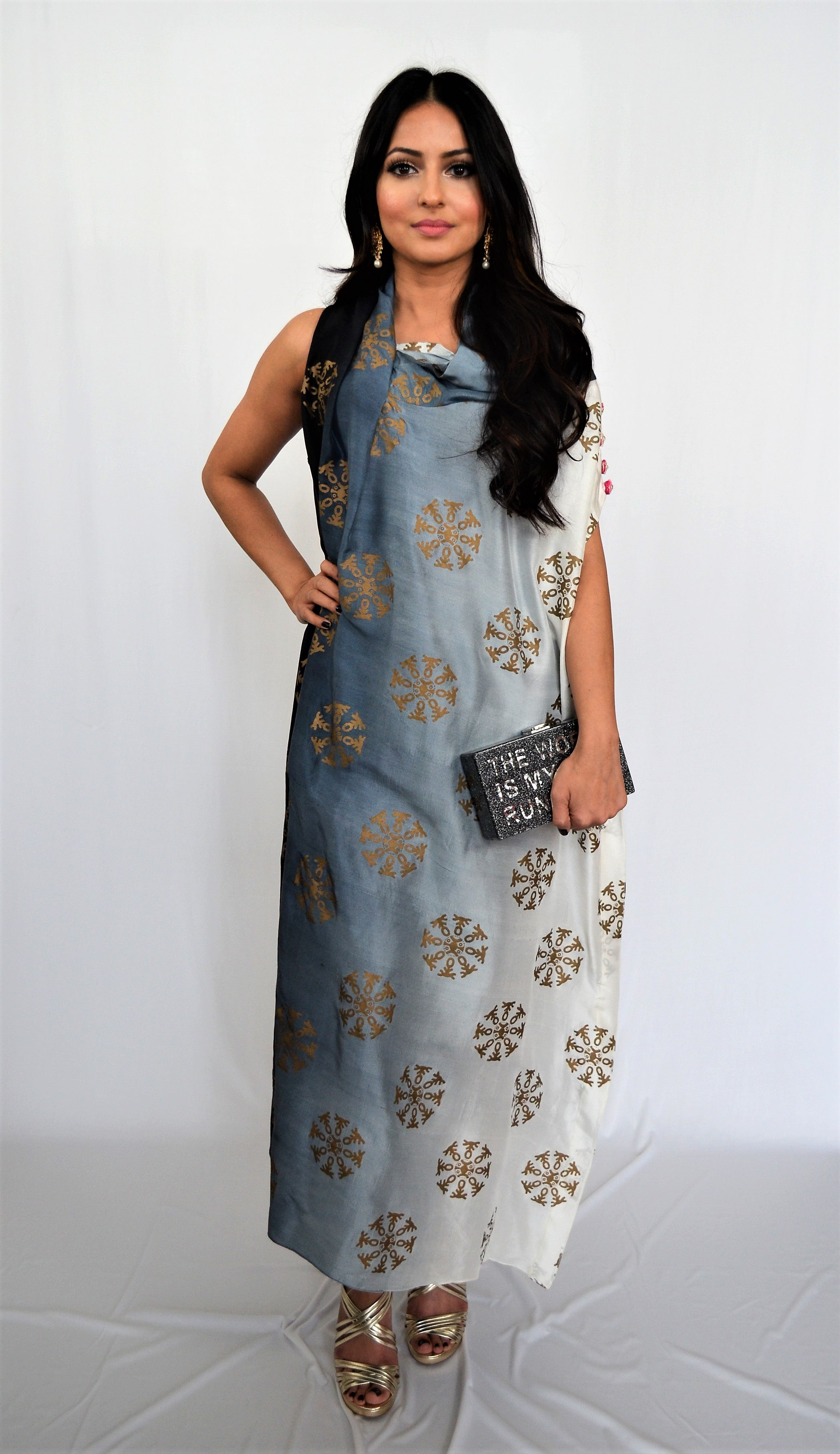 Sania Maskatiya Cowl Neck Dress