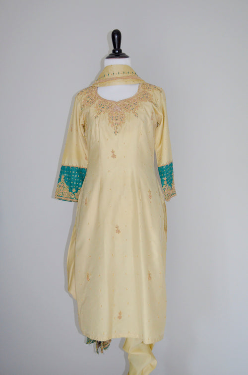 Party wear Silk kurta shalwar