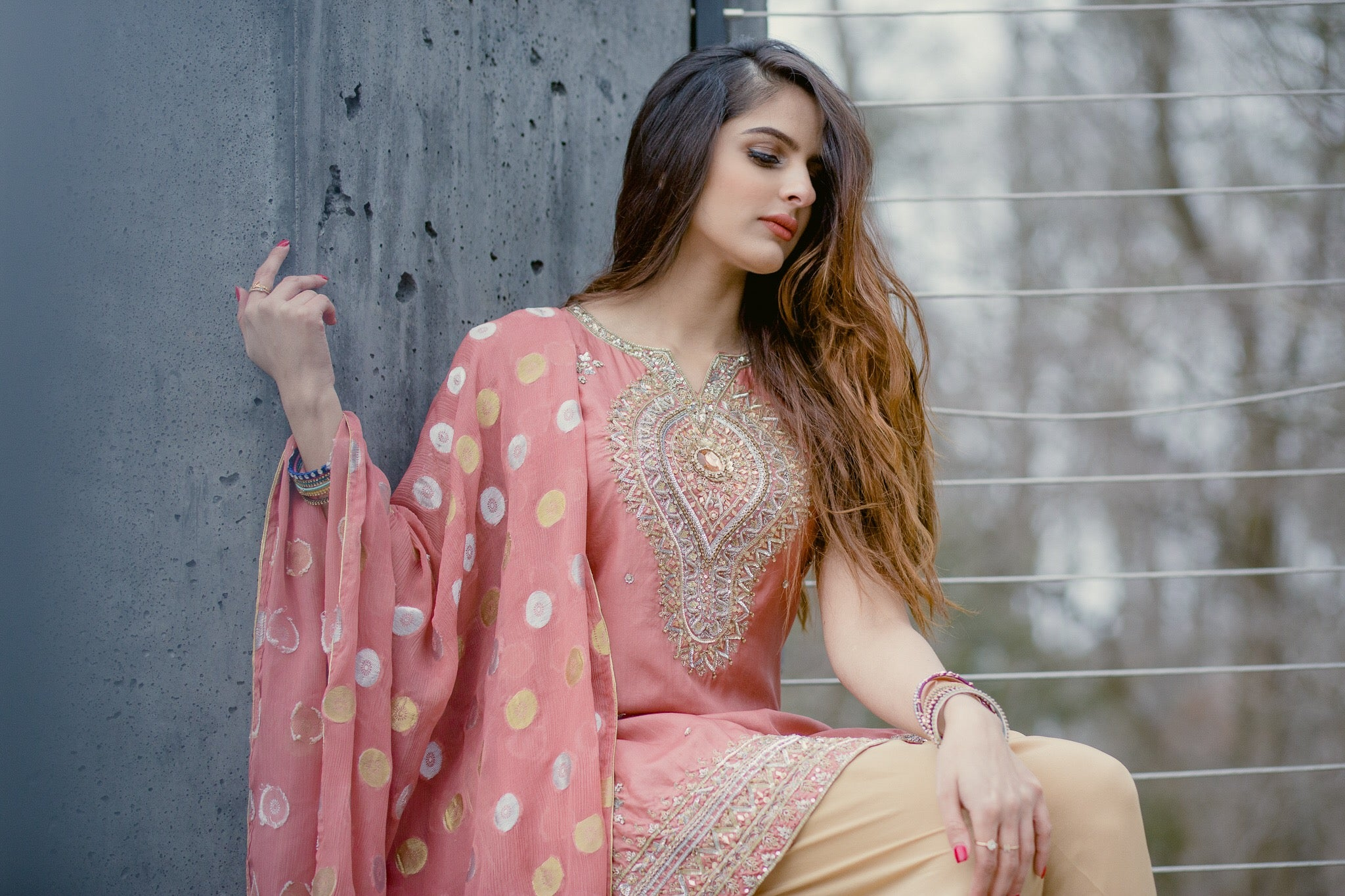 Brand New Blush Formal Shirt and Dupatta