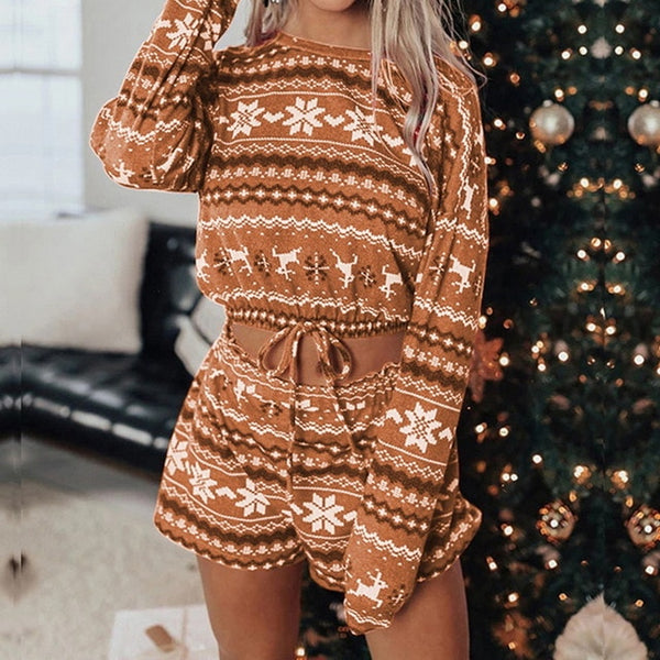 Women's Set Christmas Print