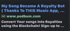 Convert Your Songs into Royalties Using the Blockchain! Sign-up to get on the whitelist!