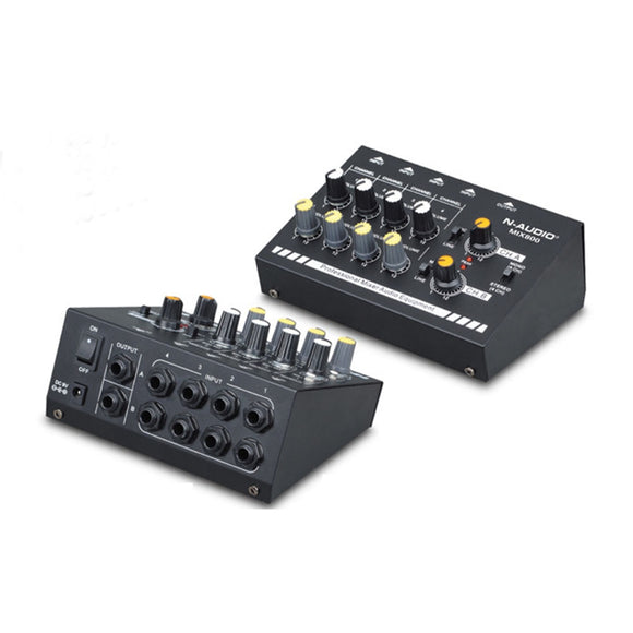 Audio Sound Mixer audio mixer Compact 8-Channel Mono / Stereo Audio Line Mixer with Power Adapter EU