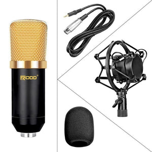 white podcast microphone Condenser 3.5mm Plug Home Stereo MIC Desktop  YouTube Video Skype Chatting Gaming Podcast Record