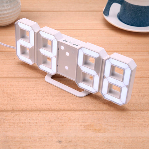 3D LED Table Clock 21.5cm