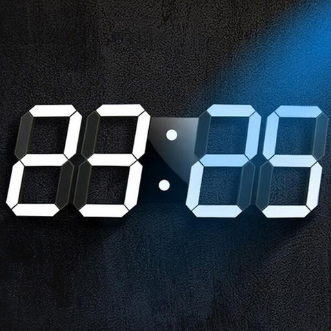 Large 3D LED Digital Wall Clock with Remote Control