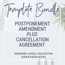 Load image into Gallery viewer, BUNDLE: Postponement AND Cancellation Agreement for Wedding & Event Pros