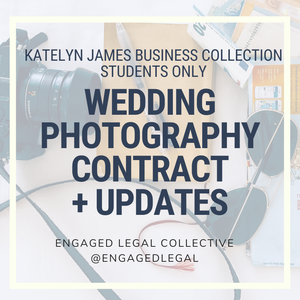 Katelyn James Business Collection Students Only - Wedding Photography Contract