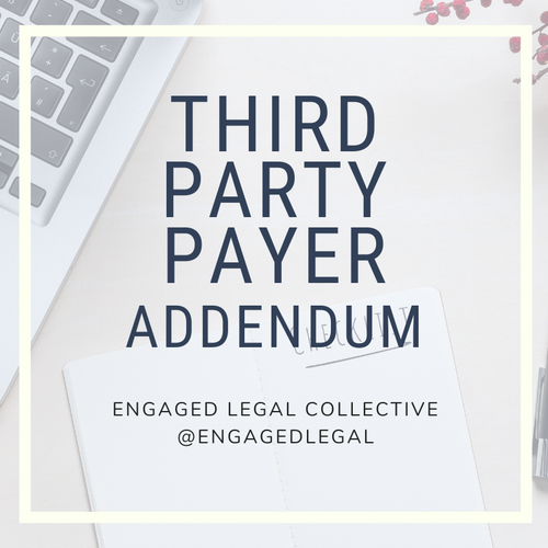 Third Party Payer - Wedding and Event Contract