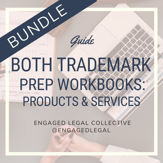 BUNDLE- Trademark Prep Workbooks: Services & Products-1-The Engaged Legal Collective Wedding Contracts and Templates