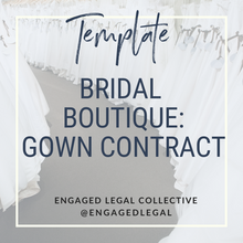 Load image into Gallery viewer, Bridal Store Contract