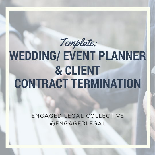 Wedding Planner cancel contract product image