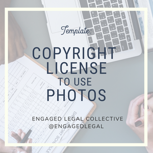 Copyright License to Use Photos
