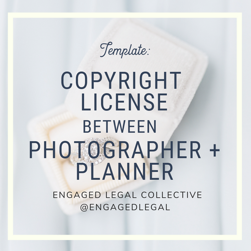 Copyright License to Use Photos: Photographer to Event Planner
