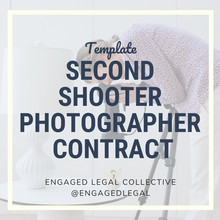 Load image into Gallery viewer, Second Shooter Contract