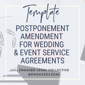 BUNDLE: Postponement AND Cancellation Agreement for Wedding & Event Pros