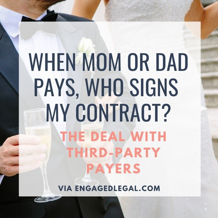 when mom or dad pays who signs the contract?