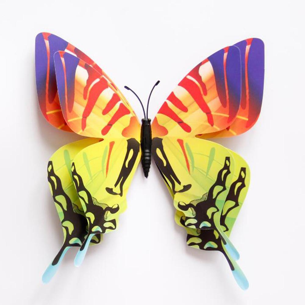 3D Butterfly Wall Decals wall stickers home decor for kids rooms 3d ...