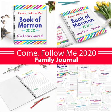 2020 Come Follow Me Book of Mormon Family Journal