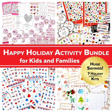 Happy Holiday Activity Bundle for Kids and Families