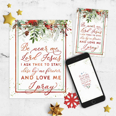 Away in a Manger Christmas Printable Set