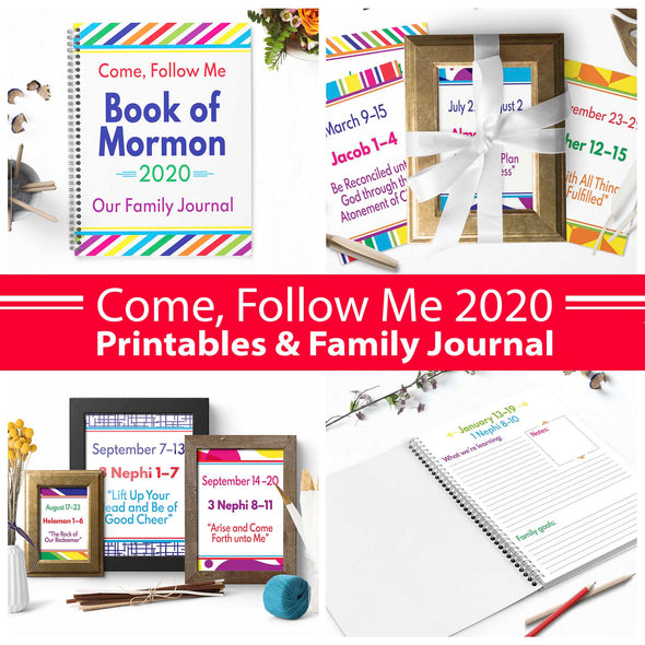 2020 Come Follow Me Complete Printable & Journal Kit Book of Mormon