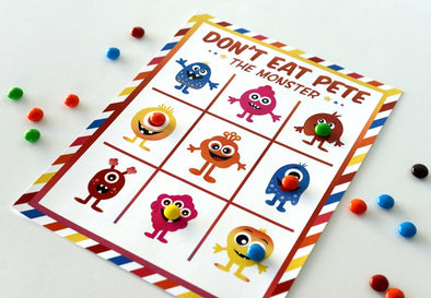 Monster Coloring & Activity Pages, I Spy Game, & Don't Eat Pete Game