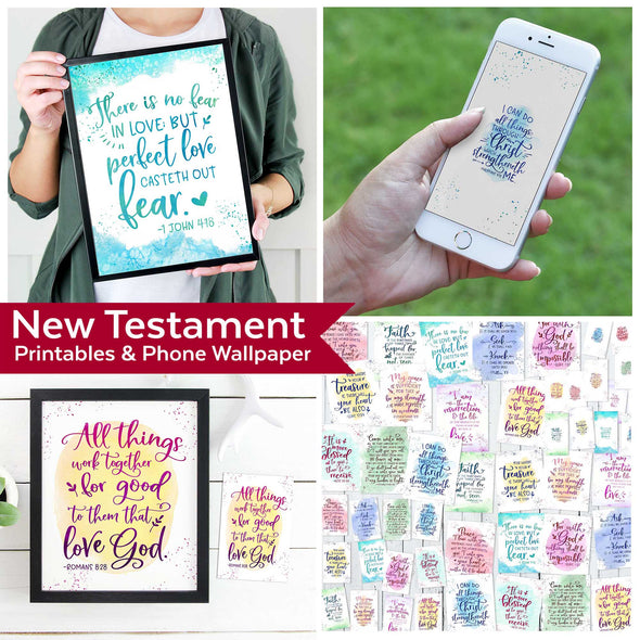 New Testament Scripture Printables And Wallpaper for Come Follow Me