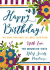 Relief Society Custom Birthday Card | LDS Relief Society Floral Custom Card
