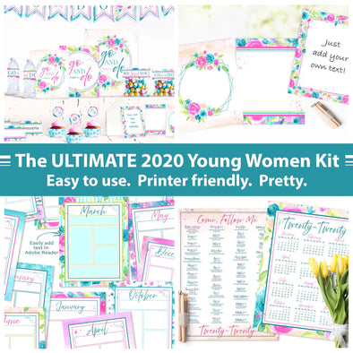 The ULTIMATE Young Women 2020 Printable Kit