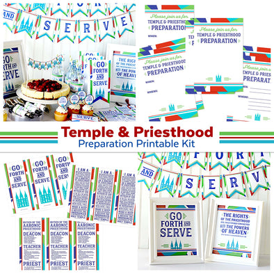 Temple & Priesthood Preparation Printable Kit
