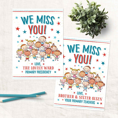 """We Miss You"" Primary Card"