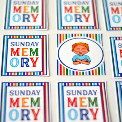 Sunday Memory Printable Game