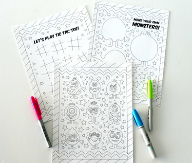 Monster Coloring & Activity Pages | Printable Download Coloring Pages Activity Printables for Kids