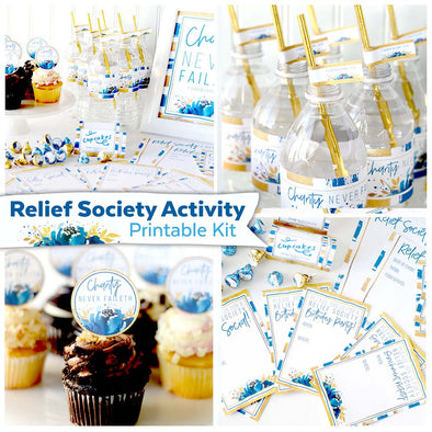 Relief Society Activity Printable Kit | LDS Relief Society Party | Relief Society Event Activities