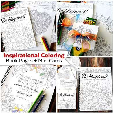 Inspirational Coloring Book Pages | Bible Verse Coloring Pages