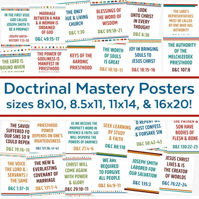 Doctrinal Mastery Posters for Doctrine & Covenants |  LDS Seminary Doctrinal Mastery Topics Posters