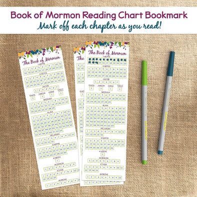 Book of Mormon Reading Chart Bookmark | Book of Mormon Reading Checklist Bookmark | Instant Download