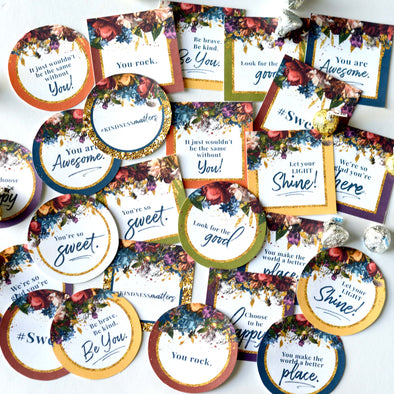 Young Women Treat Toppers | LDS Girls Camp Pillow Treat Tags | Young Women Tuck In Treats | LDS YW Treat Tags