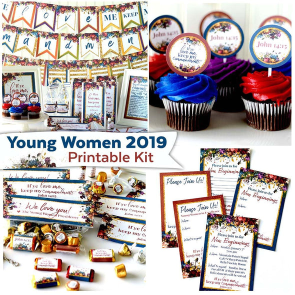 Young Women 2019 Printable Party Kit | Instant Digital Download