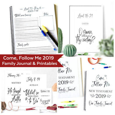 Come Follow Me 2019 Complete Printable & Journal Kit  Come Follow Me For Families | Instant Download