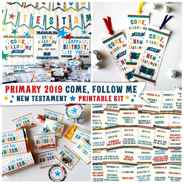 Primary 2019 Come, Follow Me New Testament Printable Kit | Latter-day Saint Primary 2019 Printables | Instant Download