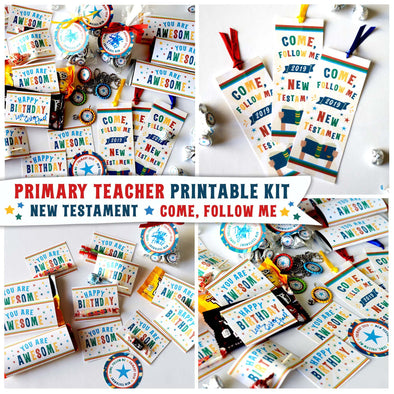 Primary Teacher 2019 Printable Kit | Come, Follow Me New Testament 2019 Printable Kit for Latter-day Saint Primary Teachers