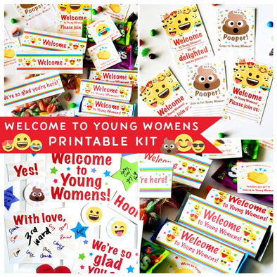 Welcome to Young Womens Printable Kit | Welcome Kit of Latter-day Saint Young Women