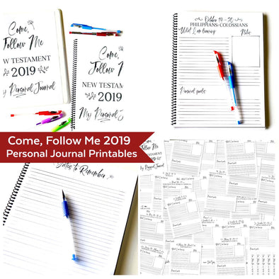 Come Follow Me 2019 Personal Journal | Come Follow Me For Teens, Singles, & Personal Study