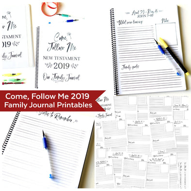 Come Follow Me 2019 Family Journal | Come Follow Me For Families | Instant Download